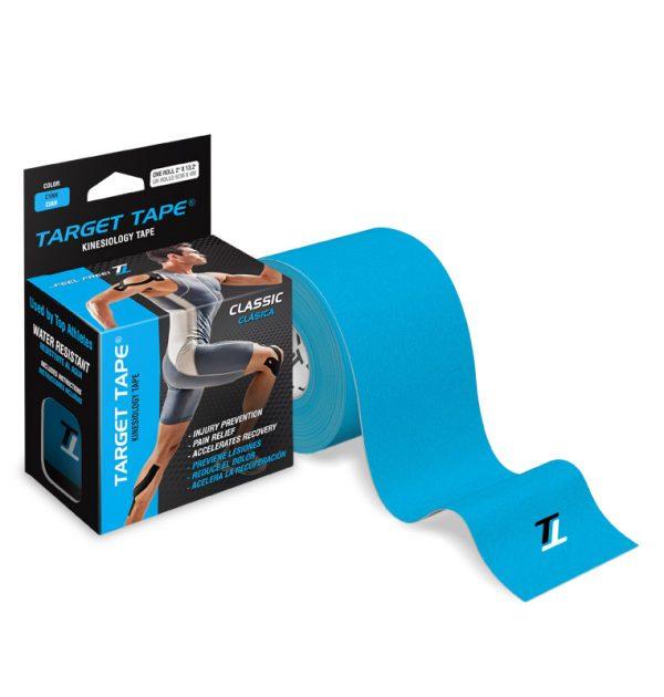 Target Tape cinta kinesiologica rollo clasica sin cortar cyan
